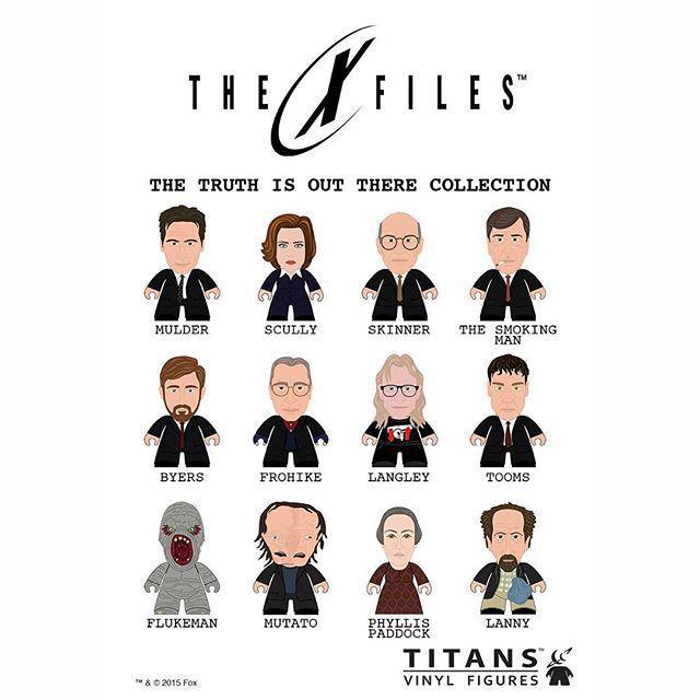 titan figurines x-files